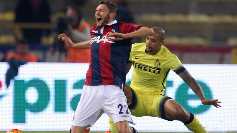 Bologna-Inter 0-1 decide Icardi. Espulsi Melo e Mancini