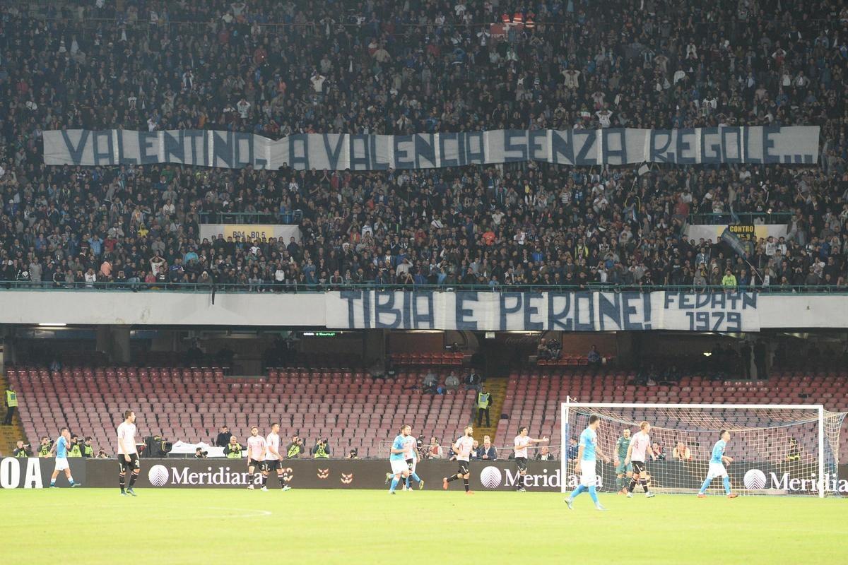 """Il San Paolo sta con Valentino Rossi: """"A Valencia senza regole..."""""""