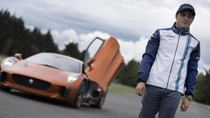 Spectre, Felipe Massa prova la Jaguar C-X75