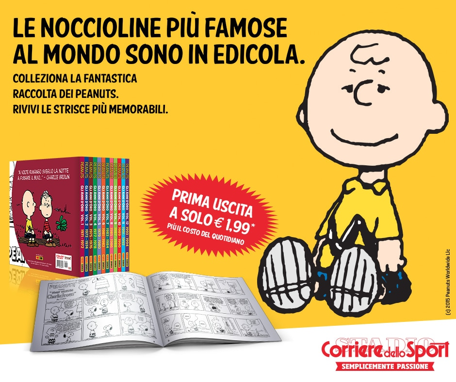 I Peanuts in edicola con il Corriere dello Sport-Stadio: prima uscita a a soli 1,99€!!!