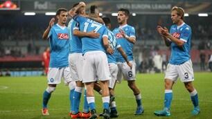 Europa League, Napoli-Midtjylland 5-0: Gabbiadini doppietta super