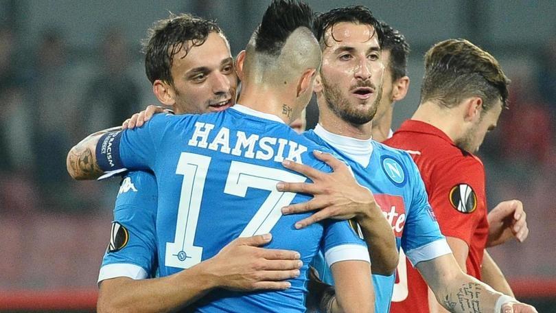 Europa League, Napoli-Midtjylland 5-0: azzurri qualificati da primi