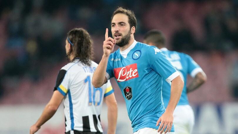 Serie A, Napoli-Udinese 1-0: Higuain fa 200