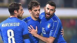 Italia-Romania 2-2, Gabbiadini: primo gol in azzurro e infortunio