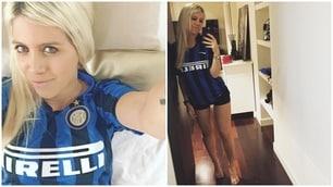 Hot tifosa, Wanda Nara fa sognare l'Inter