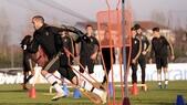Juventus, allenamento: bianconeri verso la sfida col Manchester City