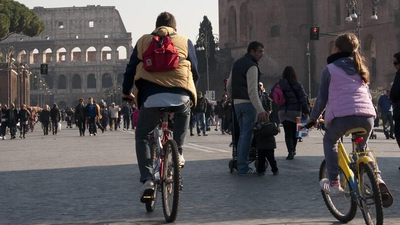 Roma bellezza in bicicletta