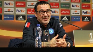 Europa League Napoli, Sarri ed El Kaddouri in conferenza stampa