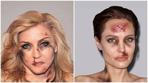 Madonna e Angelina Jolie, ecco la campagna choc contro la violenza sulla donne