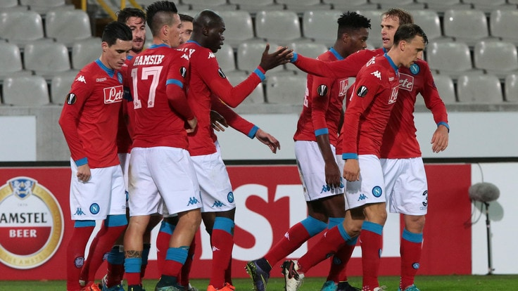 Europa League, Bruges-Napoli 0-1: Chiriches firma la quinta vittoria
