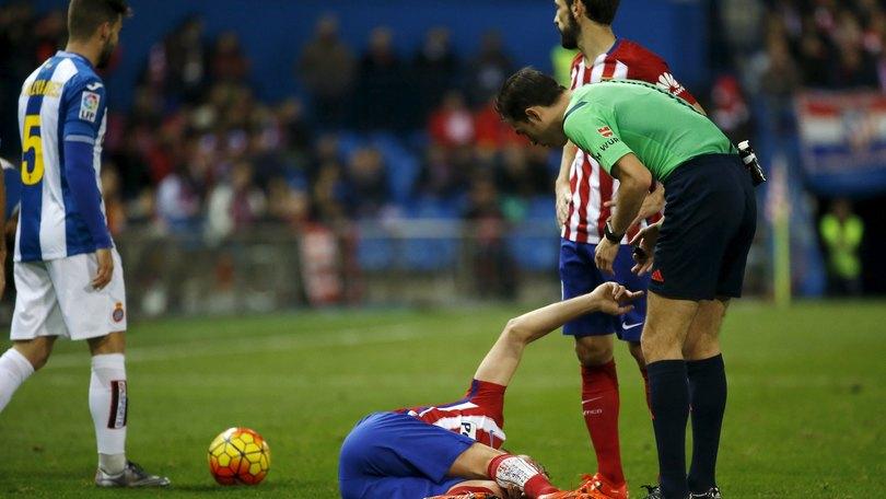 Atletico Madrid, Tiago operato. Fuori quattro mesi.
