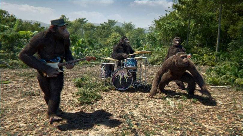 Coldplay scimmie nel video di Adventure Of A Lifetime