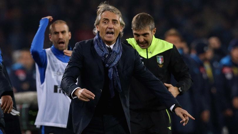 Napoli-Inter, Mancini è una furia: «Espulsione inesistente»