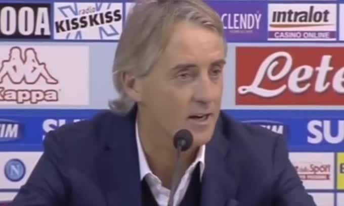 """Mancini: """"Il gol iniziale e l'espulsione hanno condizionato la gara"""""""