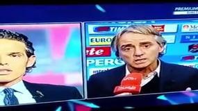 Mancini-De Marco, lite in tv dopo Napoli-Inter