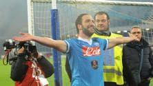 Serie A Napoli,Higuain: «Notte magica, grazie ai tifosi e ai compagni»