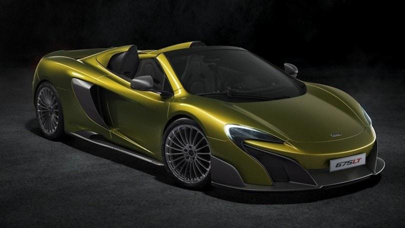 McLaren 675LT Spider, la coda lunga da 400 mila euro