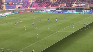 Bologna-Napoli, Destro in posizione dubbia sull'1-0