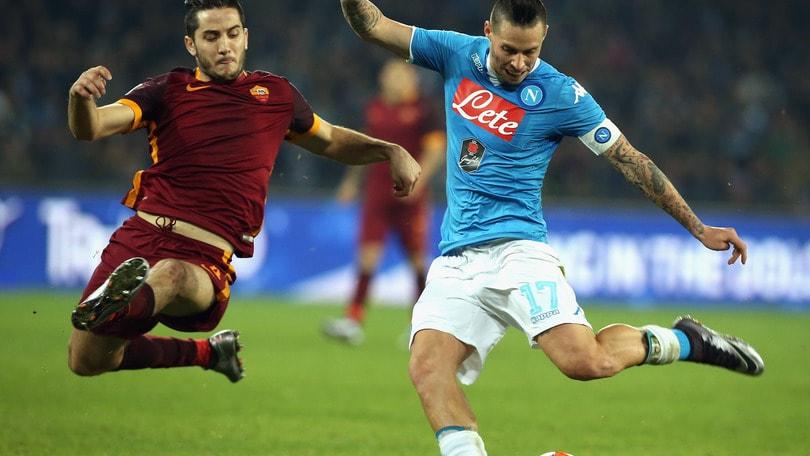 Napoli-Roma, Sarri e Hamsik: «Abbiamo dominato». De Laurentiis: «Sono soddisfatto»