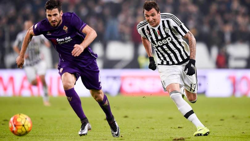 Juventus-Fiorentina 3-1: rigore Ilicic al 3', Cuadrado al 6', Mandzukic all'80', Dybala al 91'