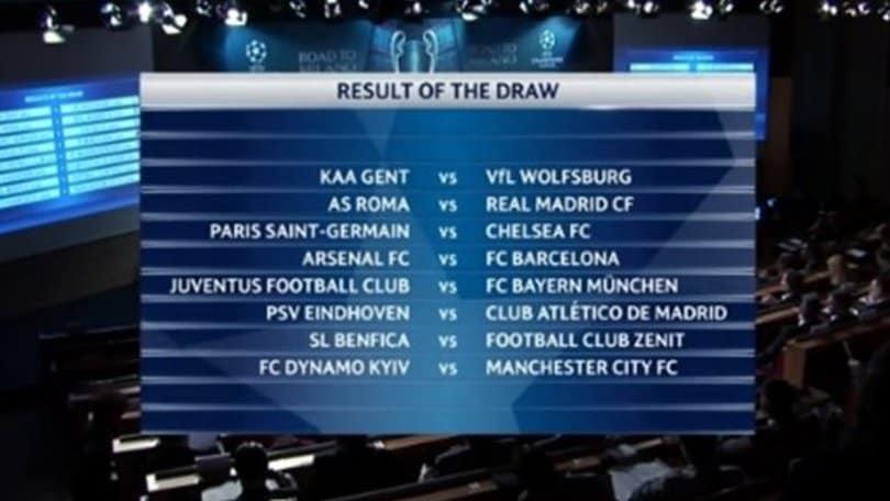 Champions Calendario Juve.Sorteggi Champions League Roma Real Madrid E Juventus
