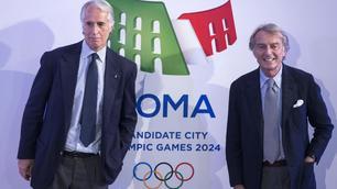 Roma 2024, cerimonia di presentazione del logo: il Colosseo tricolore