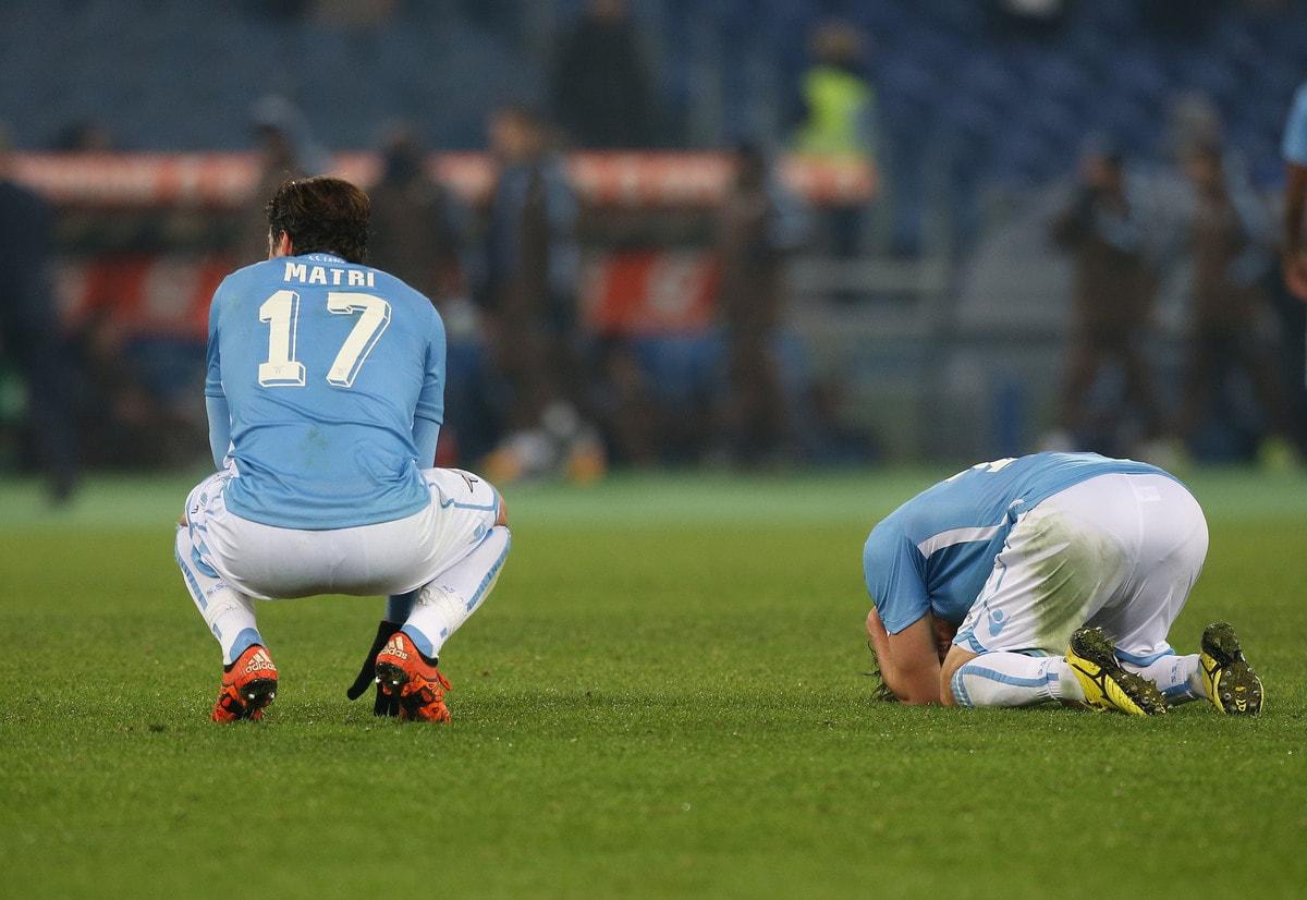 Lazio-Sampdoria 1-1, Matri e compagni si disperano a centrocampo
