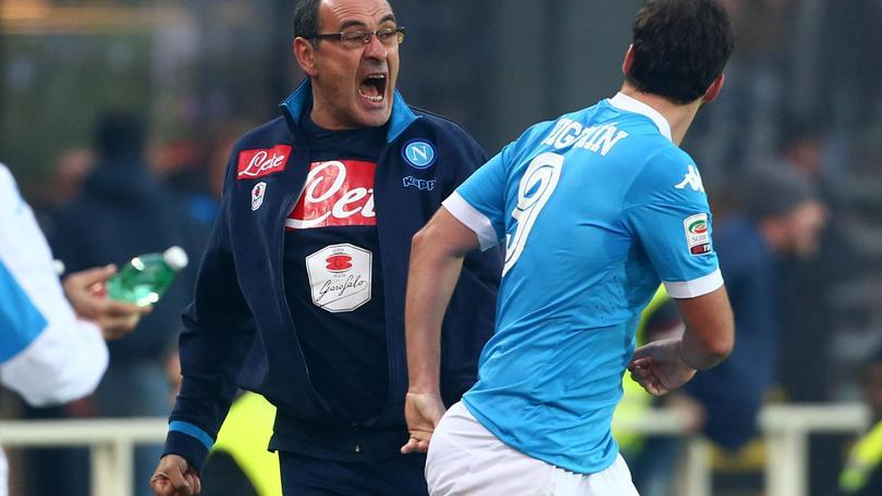 Serie A Napoli, Sarri: «Gol Higuain provato in allenamento»