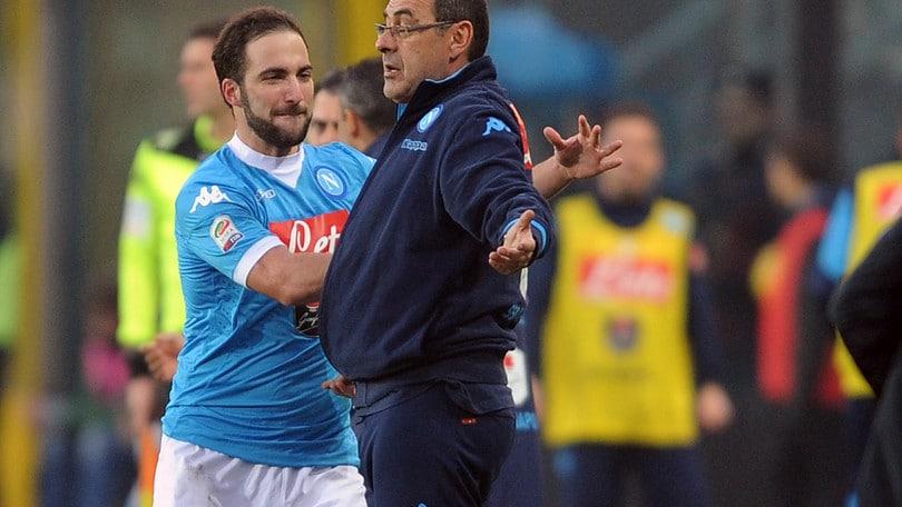 Napoli, Sarri: «Con Higuain rapporto speciale»