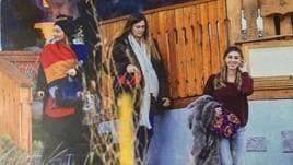 Belen Rodriguez e Marco Borriello: le foto dell'incontro a Cortina
