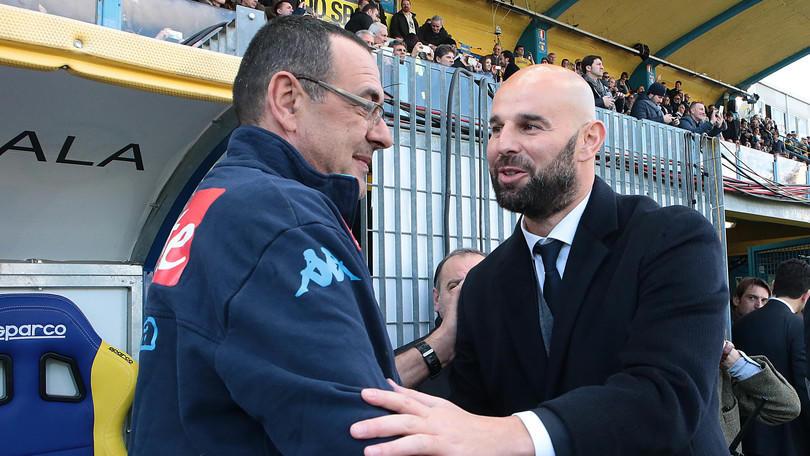 Serie A Napoli, Sarri: «Scudetto? La Juventus è sempre favorita»