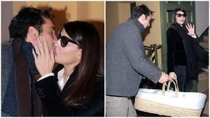 Gigi Buffon e Ilaria D'Amico, prime foto con il figlio