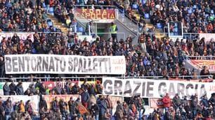 Roma, l'Olimpico saluta Spalletti e ringrazia Garcia