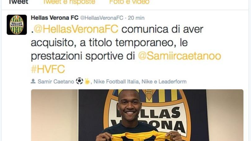 Calciomercato Verona, arriva Samir in prestito