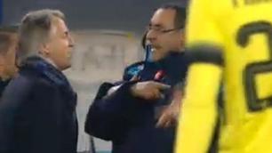 Coppa Italia Napoli-Inter, Mancini-Sarri: clamorosa lite a fine gara!