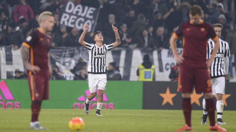 Juventus-Roma 1-0: decide Dybala