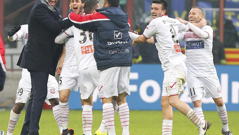 Serie A, Carpi-Palermo: emiliani avanti a 2,30