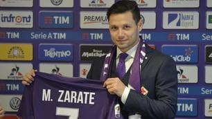 Fiorentina, ecco Zarate con la maglia numero 7