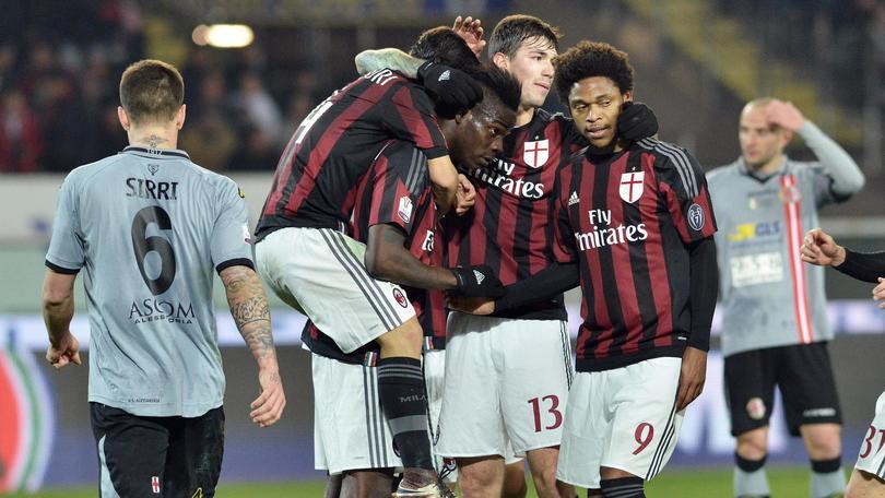 Coppa Italia, Alessandria-Milan 0-1: Balotelli su rigore