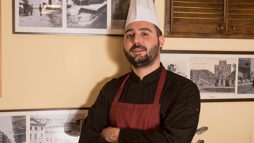 Lo chef Roberto Campitelli a Castel Romano Outlet