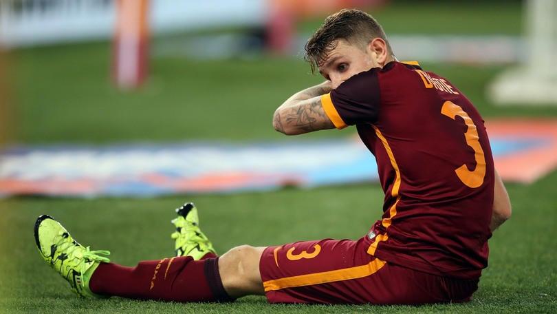 Serie A Roma, si ferma Digne: 2 settimane di stop