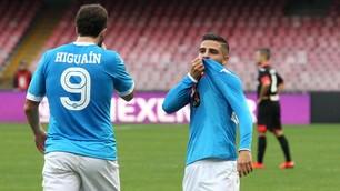 Serie A, Napoli-Empoli 5-1: pokerissimo azzurro