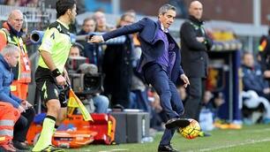 Genoa-Fiorentina, Sousa espulso: tocca il pallone prima che esca!