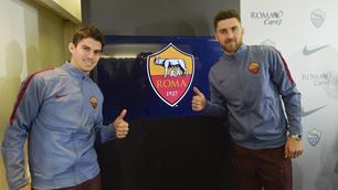 Roma, Perotti e Zukanovic day: ecco le foto