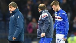 Serie A Sampdoria, lieve stiramento per Sala