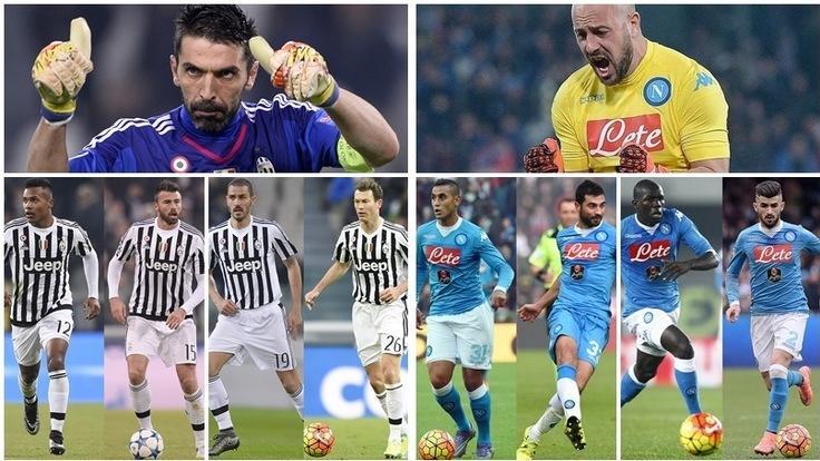 Juventus-Napoli, difese a confronto: vota la più forte