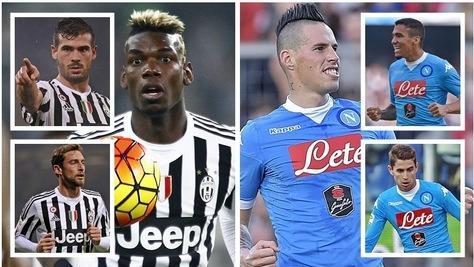 Juventus-Napoli, centrocampo a confronto: vota il più forte