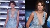Madalina Ghenea, sexy trasparenze per la seconda serata di Sanremo
