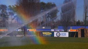 Inter, ad Appiano spunta l'arcobaleno