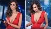 Sanremo, Madalina Ghenea hot: che scollatura in abito rosso